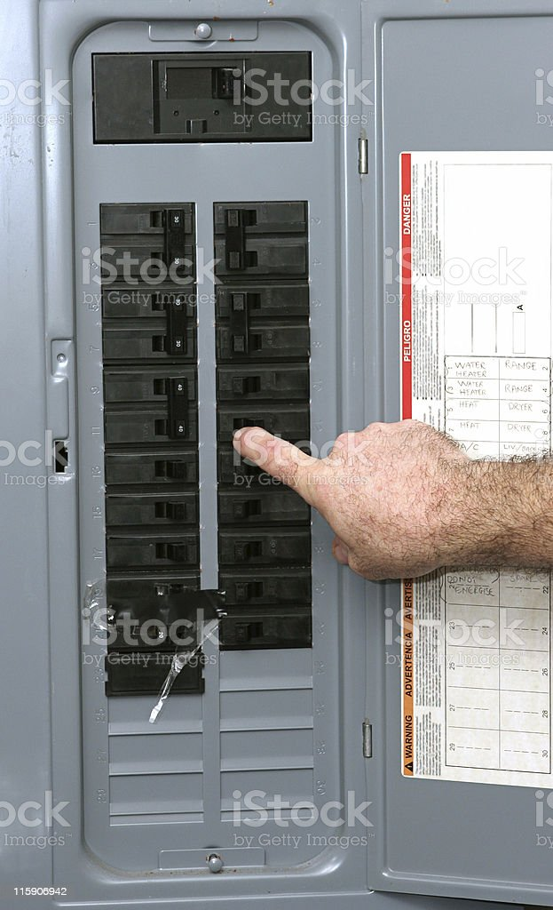 Electrical Panel stock photo