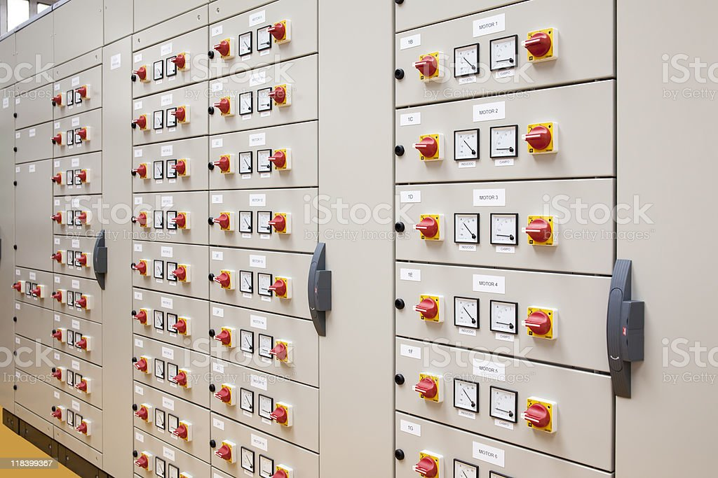 Electrical panel royalty-free stock photo
