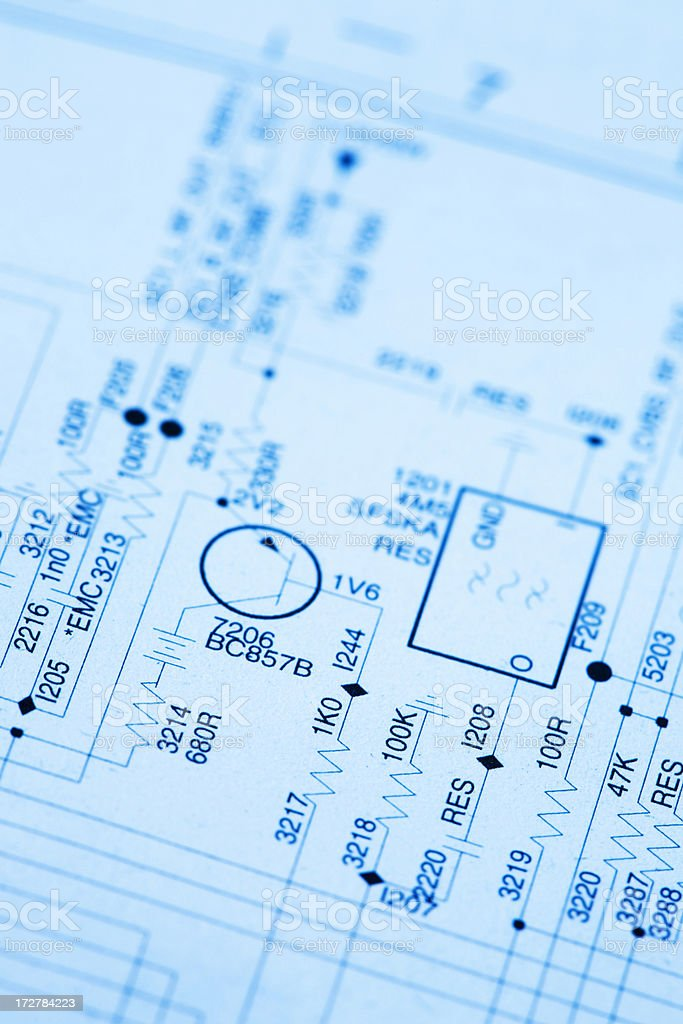 Electrical Plans royalty-free stock photo
