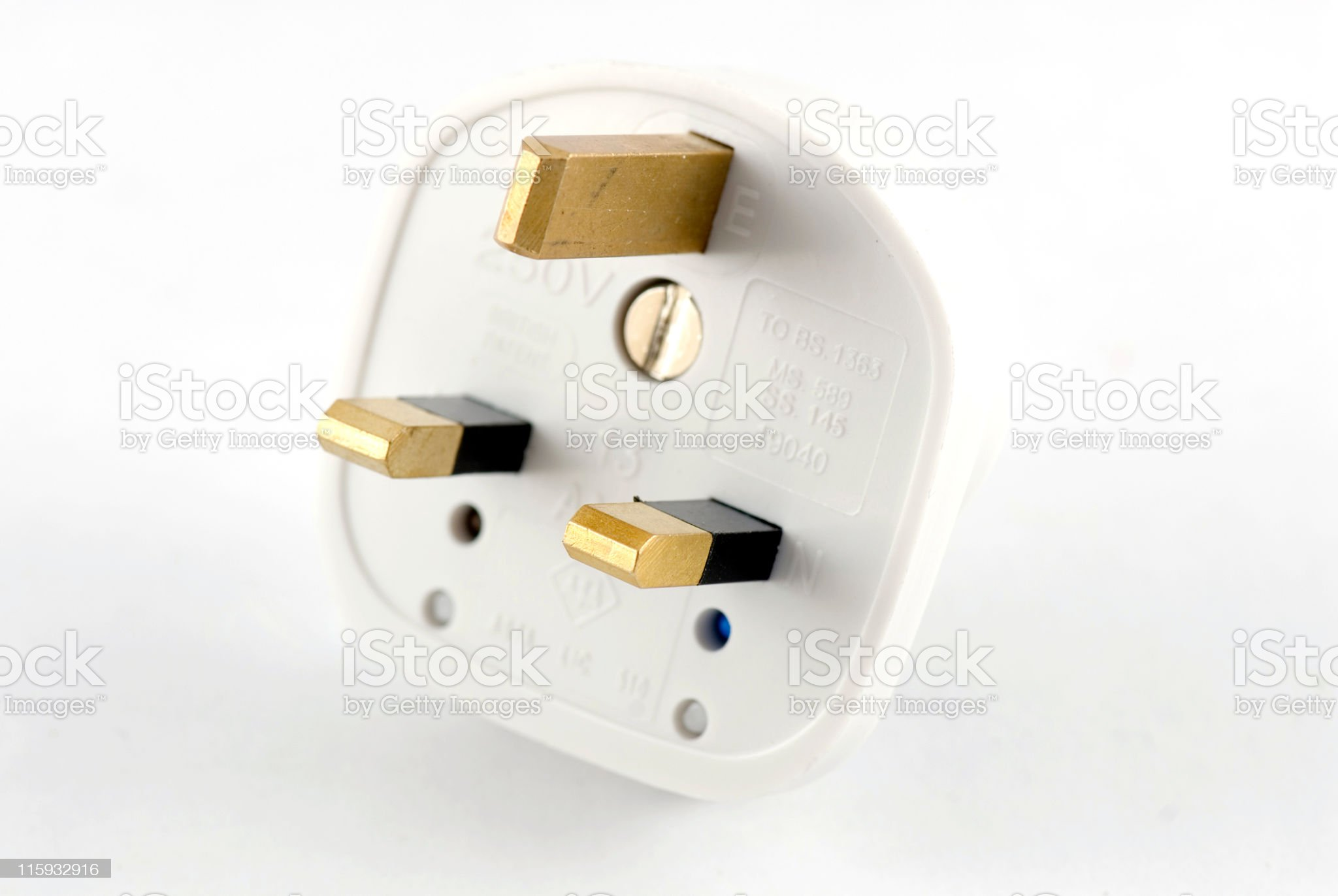 UK Electrical Plug royalty-free stock photo