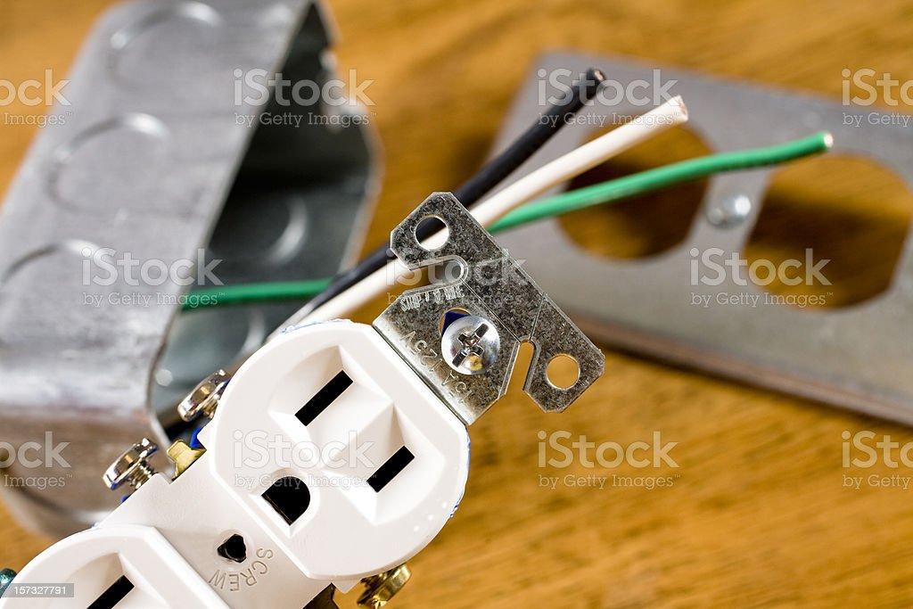 Electrical plug stock photo