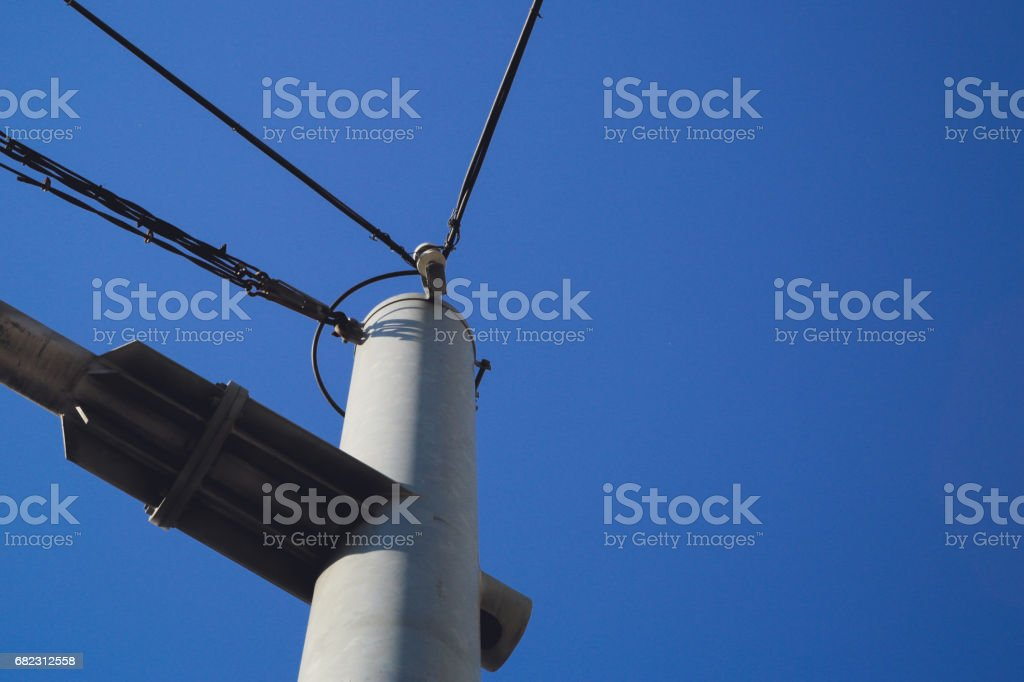 electrical pole stock photo