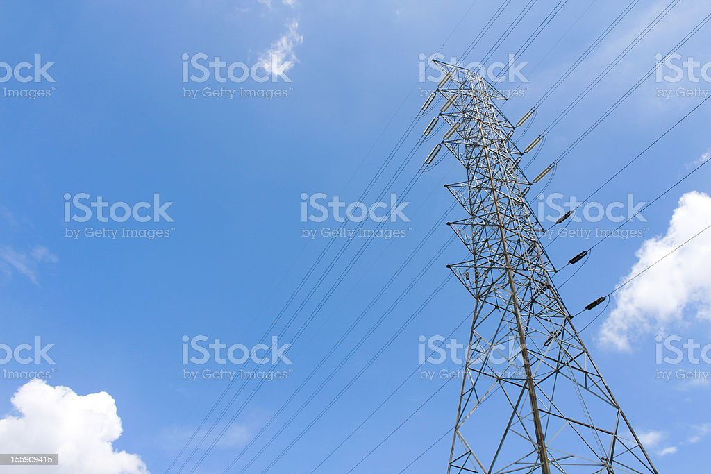 Electrical post royalty-free stock photo
