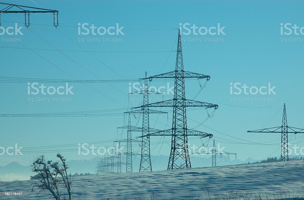 Electrical power and powder royalty-free stock photo