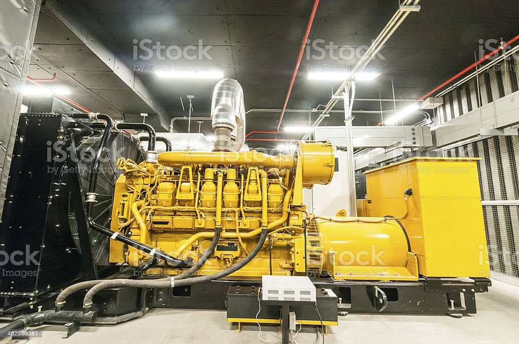 Electrical power generator stock photo