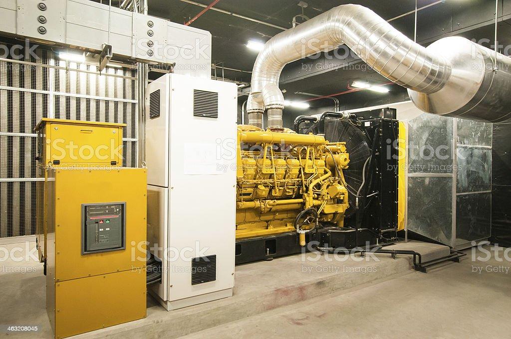 Electrical power generator stock photo