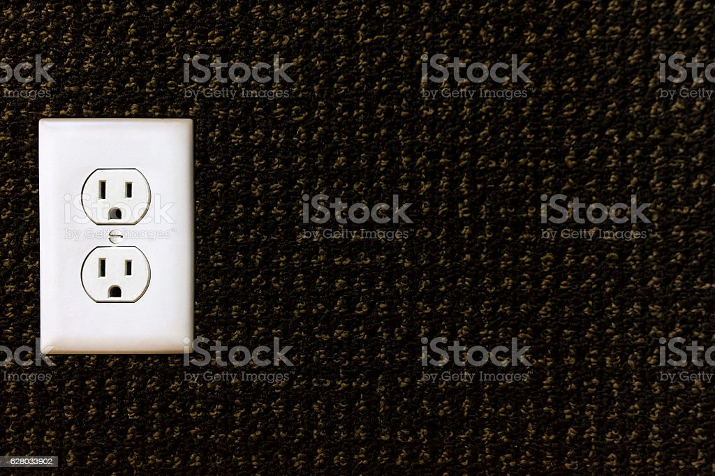 Electrical power outlet stock photo