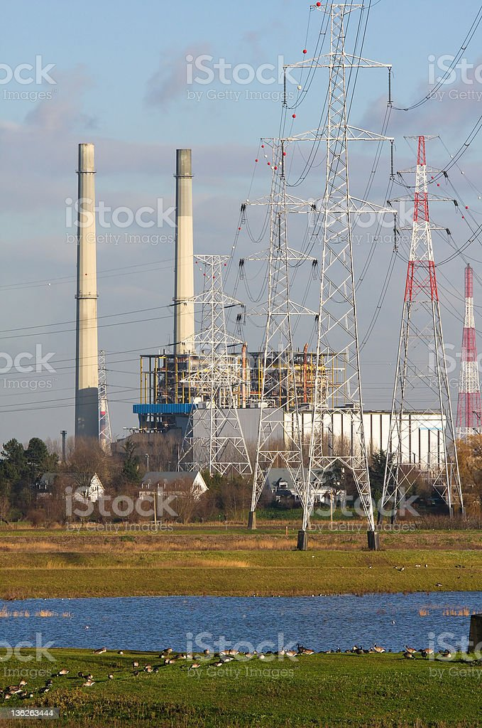 Electrical power plant royalty-free stock photo