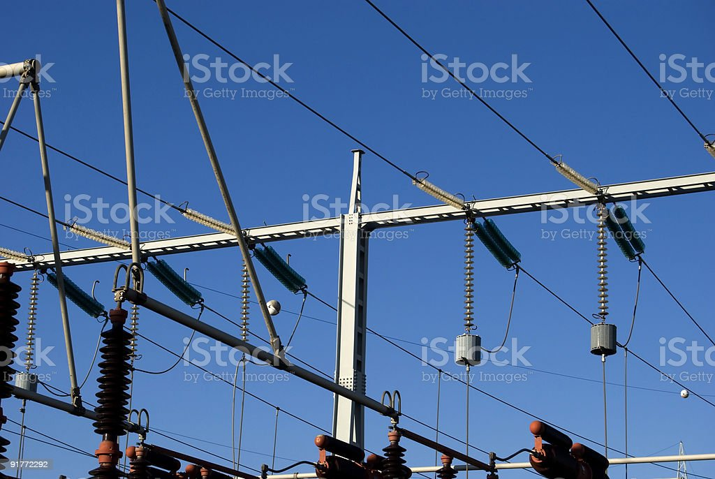 Electrical power station I stock photo