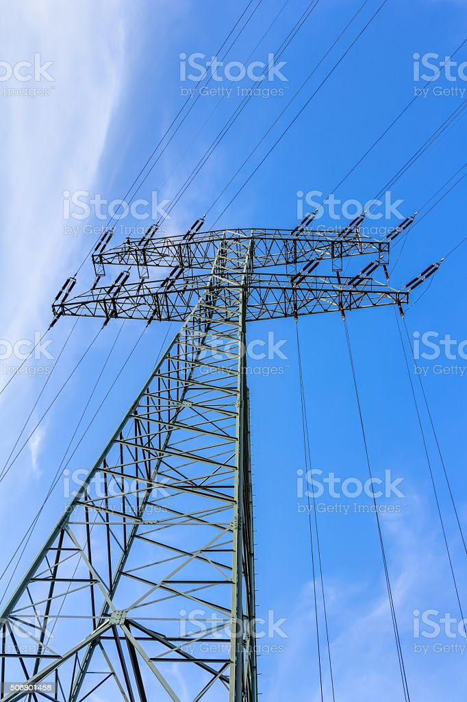 Electrical power supply stock photo