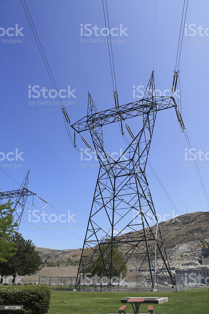 Electrical Power Tower stock photo