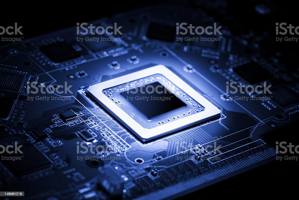 Electrical processor stock photo
