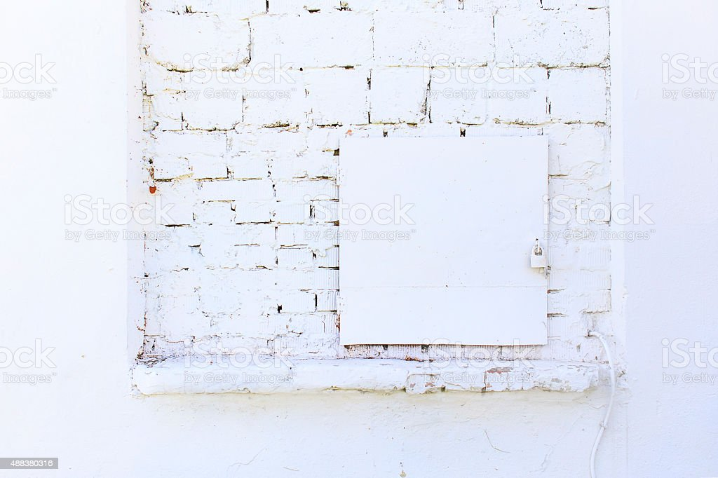 electrical shield is painted white stock photo