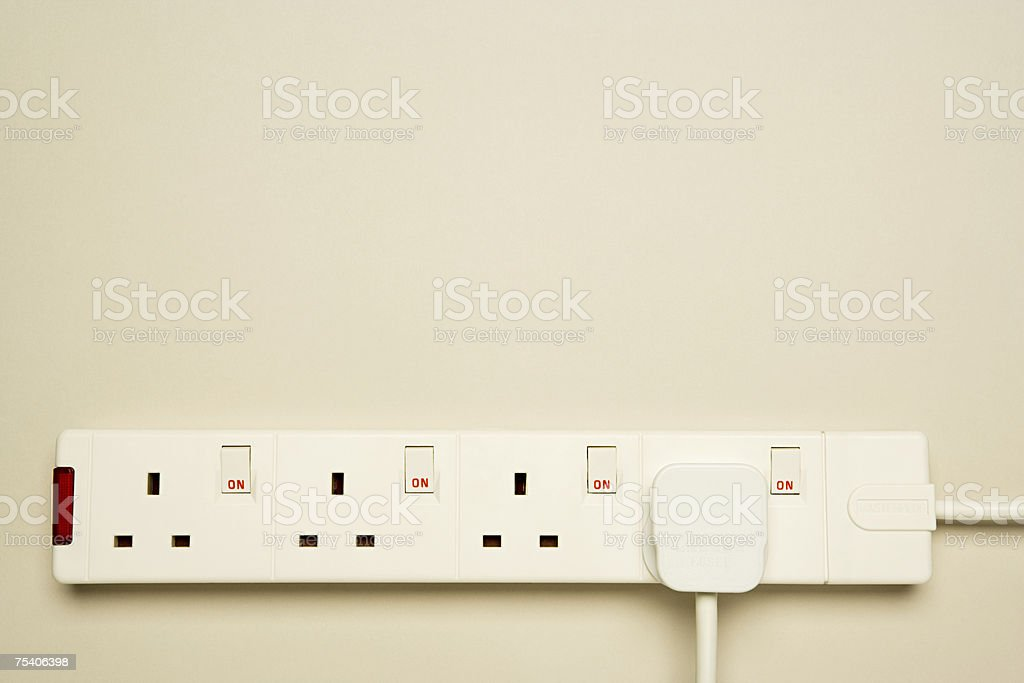 Electrical socket stock photo