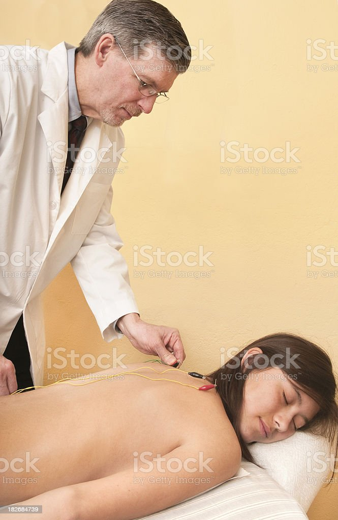 Electrical Stimulation - Acupuncture Series royalty-free stock photo