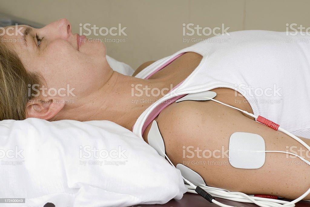 Electrical Stimulation on Shoulder royalty-free stock photo