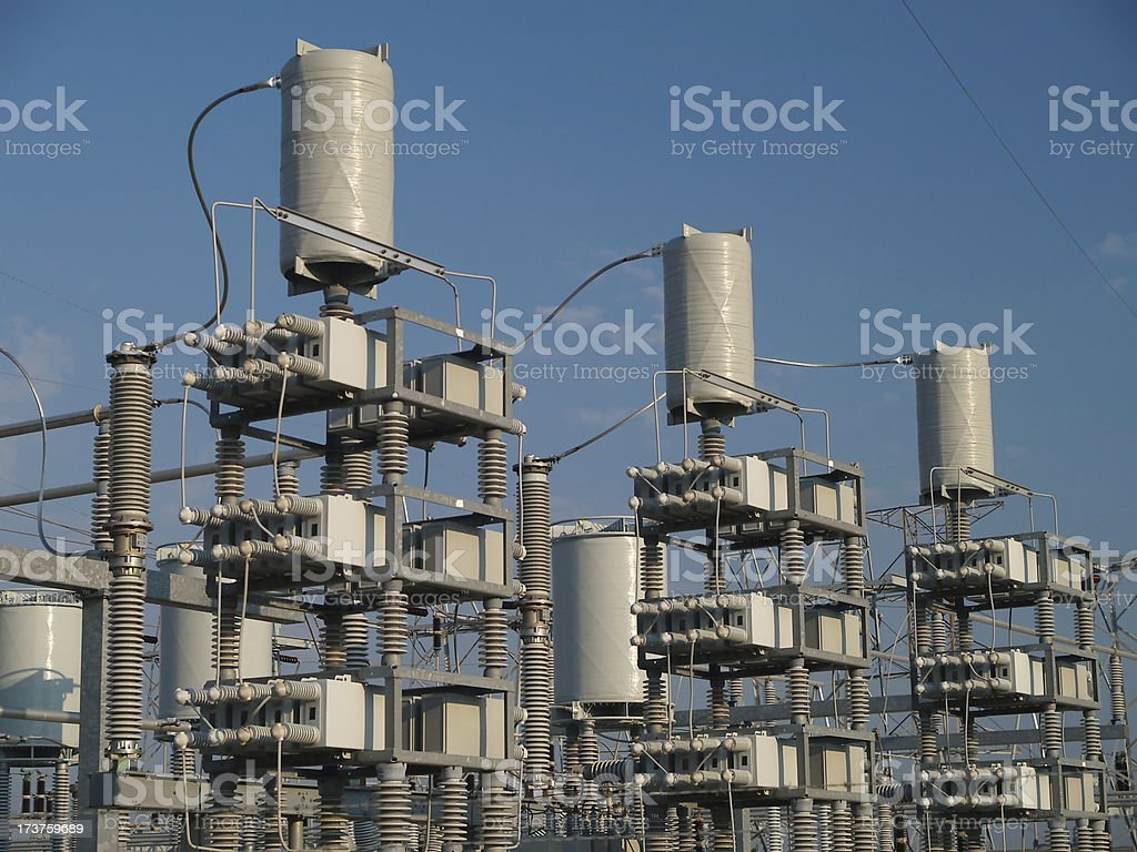 Electrical substation detail #2 stock photo