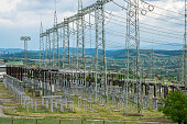 Electrical substation. Electricity distribution.