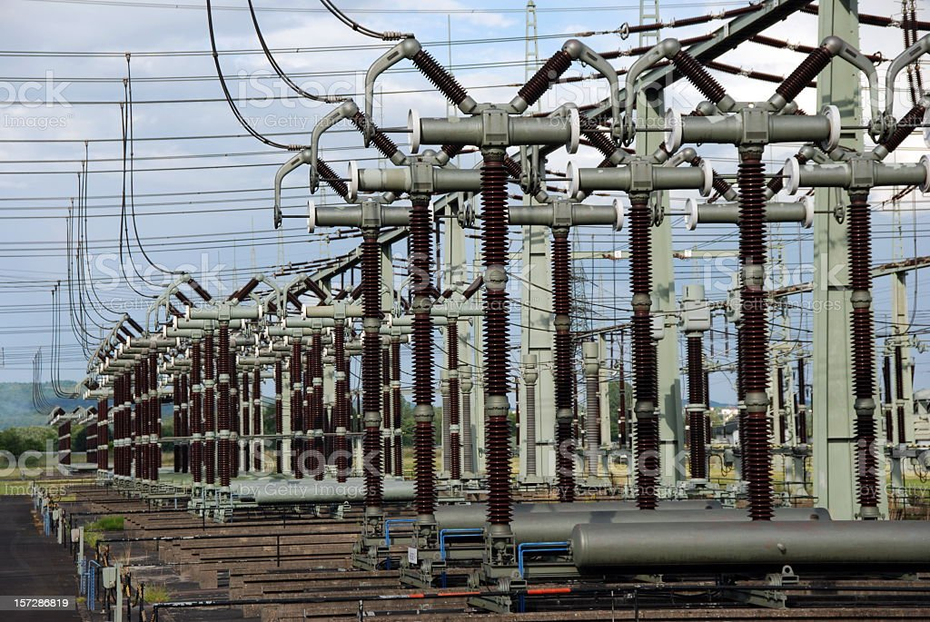Electrical substation in the daytime  royalty-free stock photo