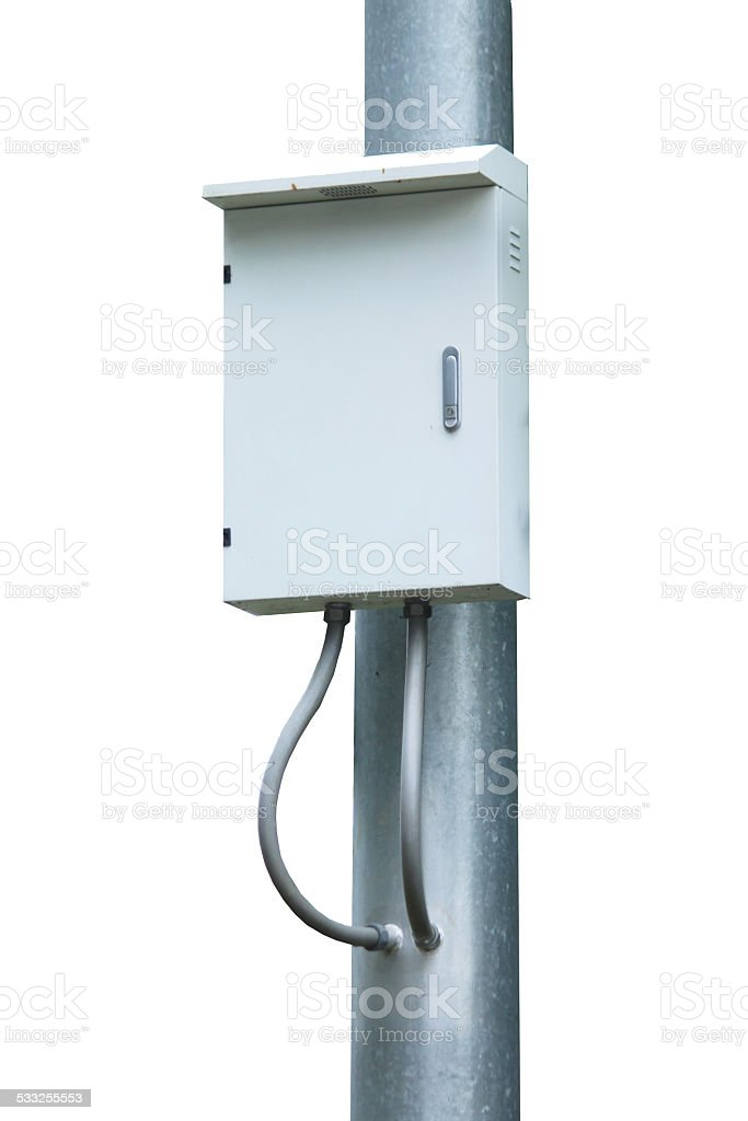 Electrical switch box stock photo