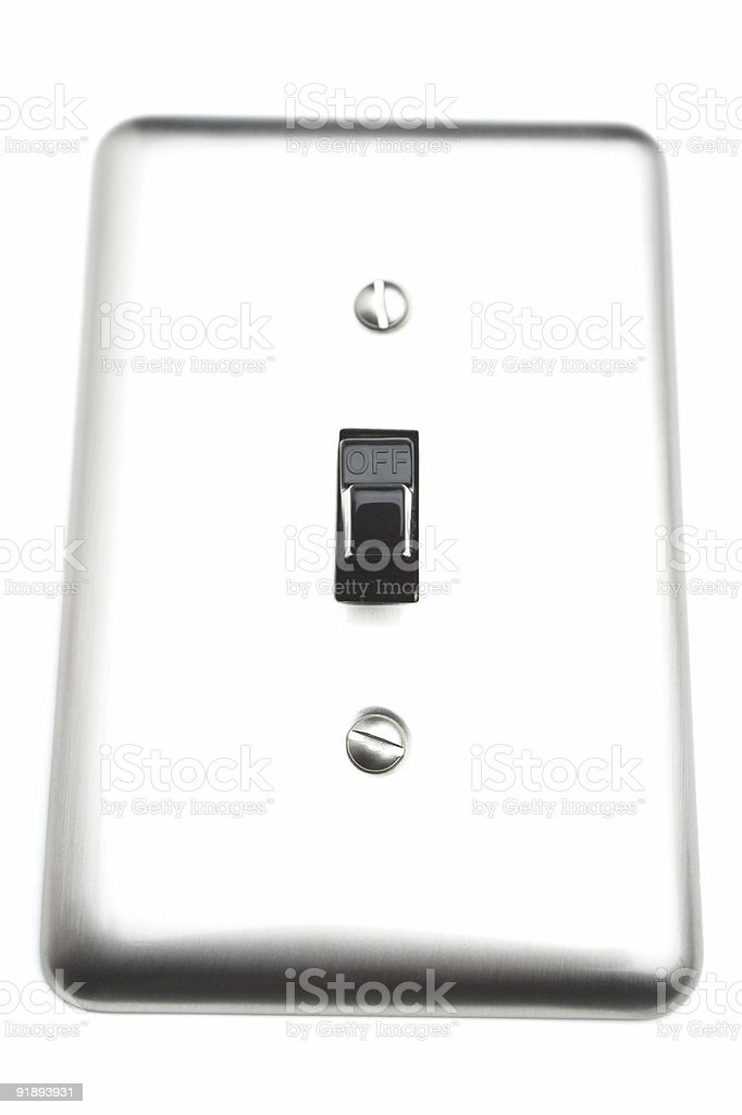 Electrical Switch (OFF) royalty-free stock photo