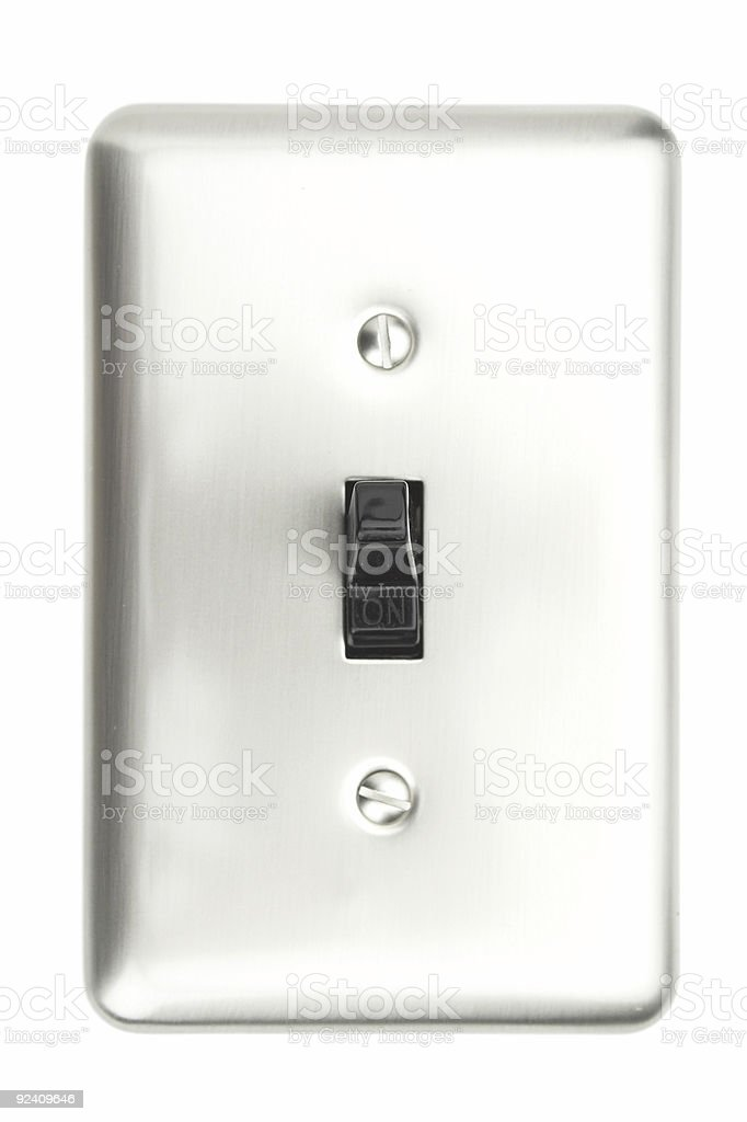 Electrical Switch (ON) royalty-free stock photo