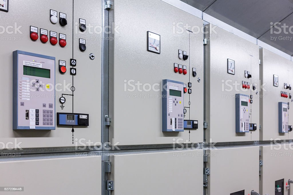 Electrical switchgear stock photo
