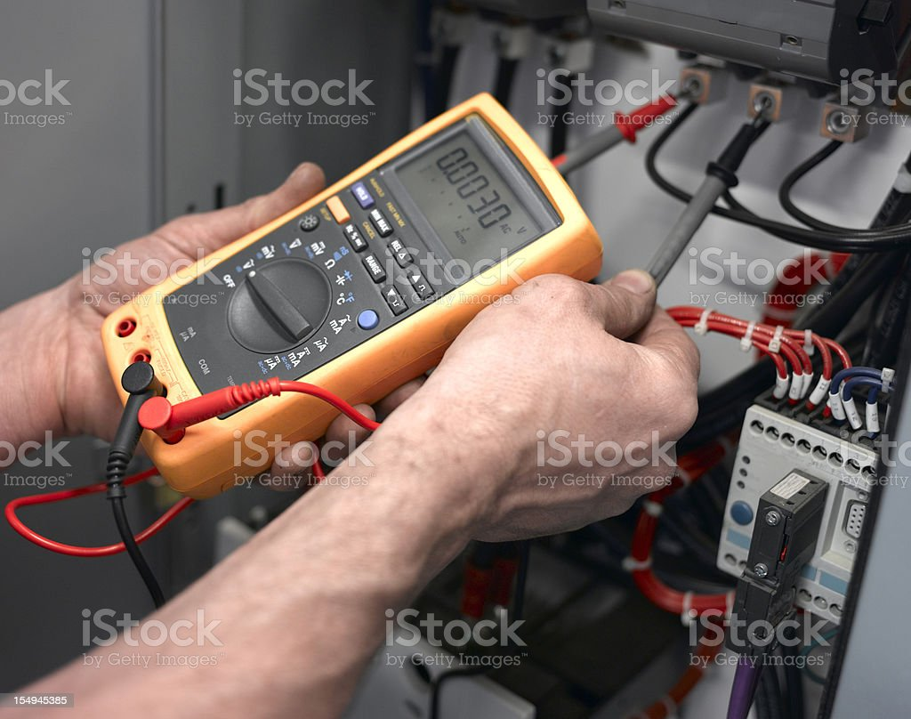 Electrical Test stock photo