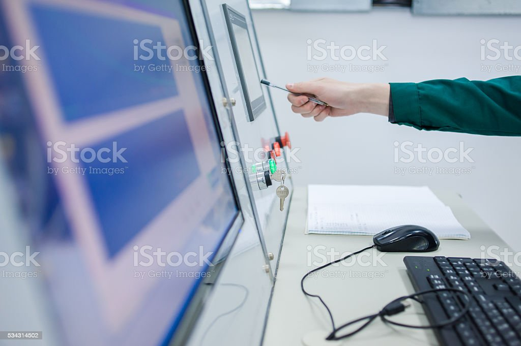 electrical tests and experiments stock photo
