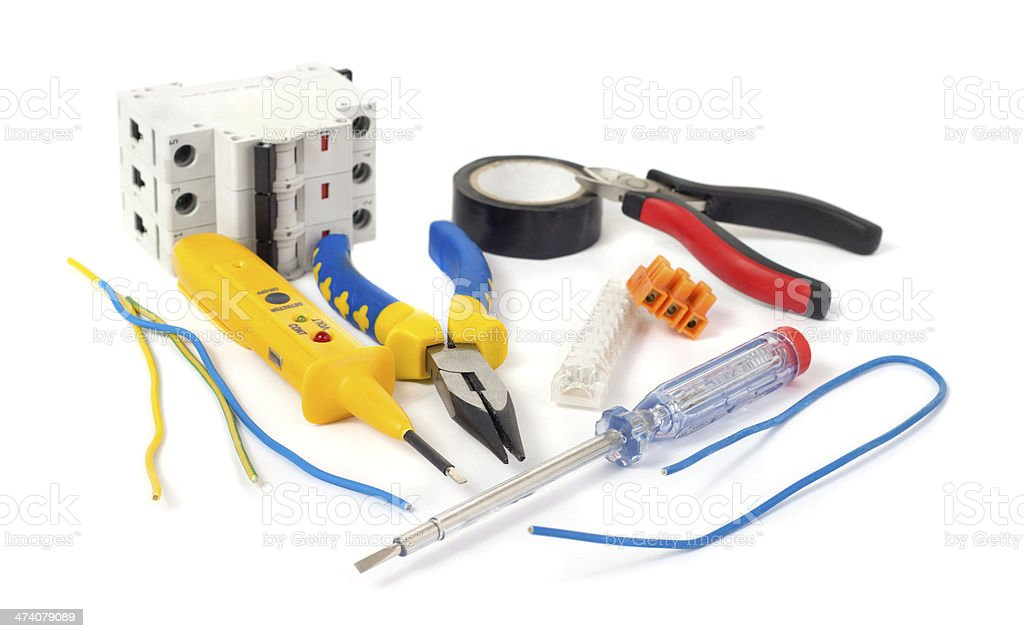 Electrical tools stock photo