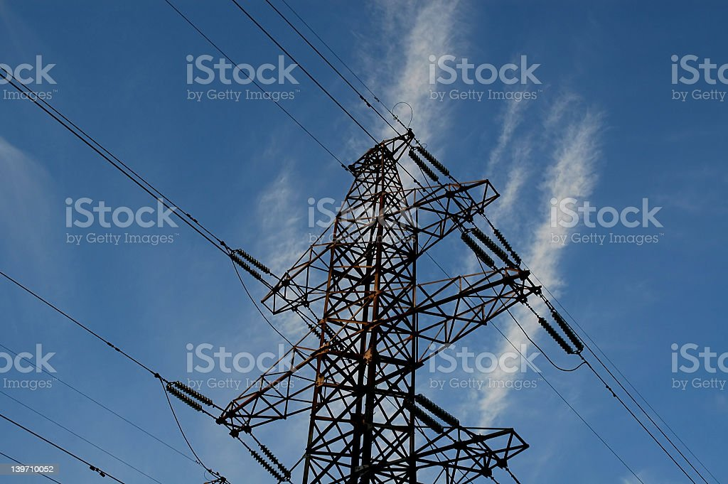 electrical tower 2 stock photo