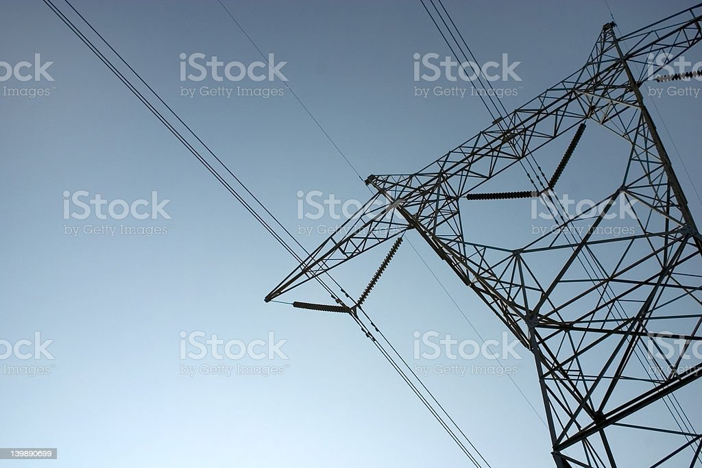 Electrical Tower at an Angle royalty-free stock photo