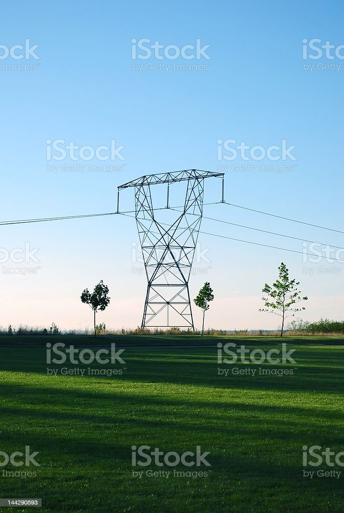 Electrical Tower royalty-free stock photo