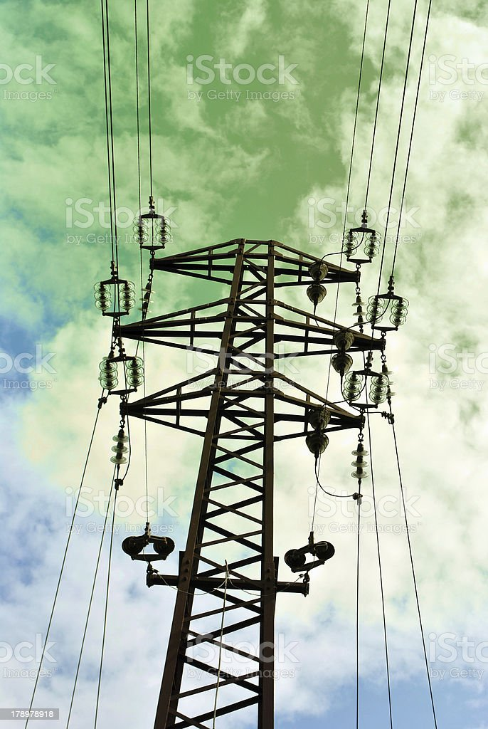 Electrical towers royalty-free stock photo