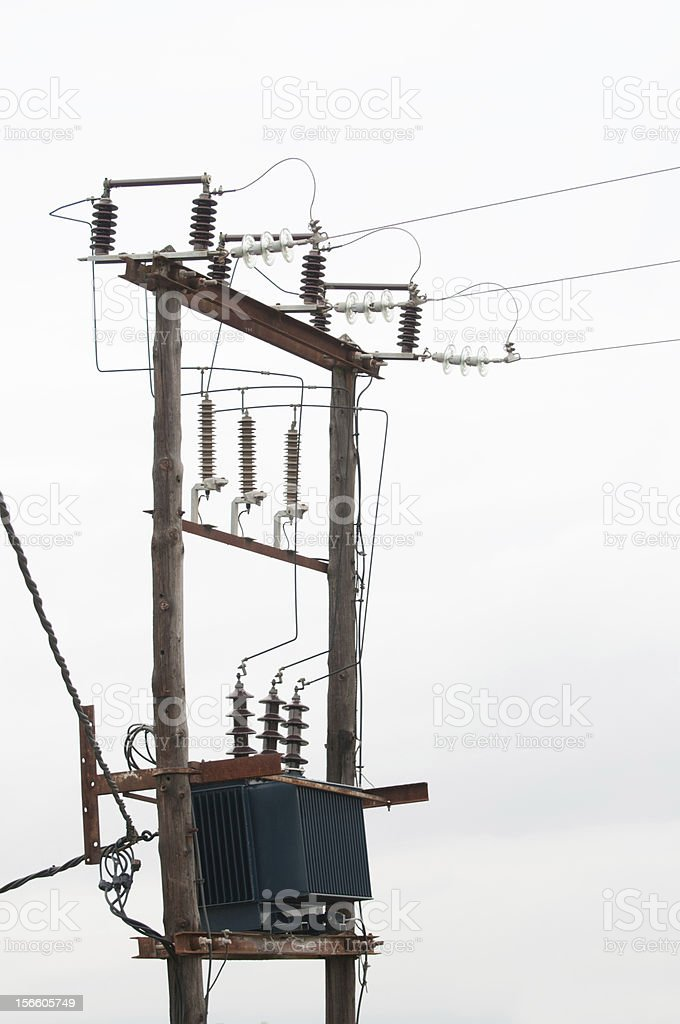 Electrical transformer royalty-free stock photo
