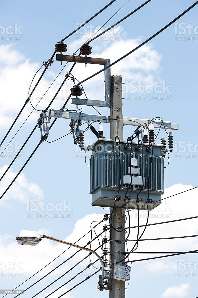electrical transformer stock photo