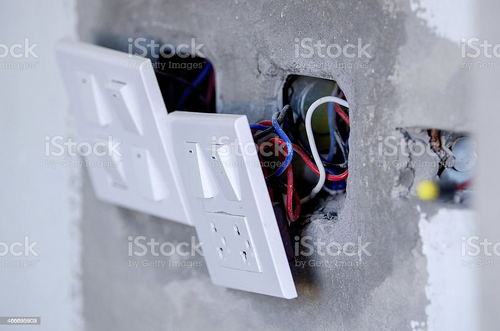 Electrical wall sockets royalty-free stock photo