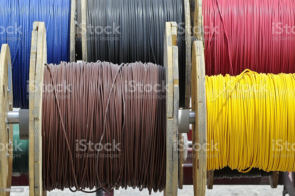 electrical wire royalty-free stock photo