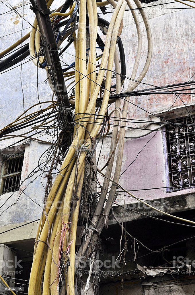 Electrical Wiring in India royalty-free stock photo