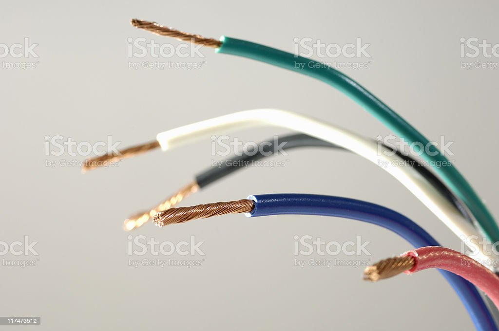 Electrical wiring royalty-free stock photo