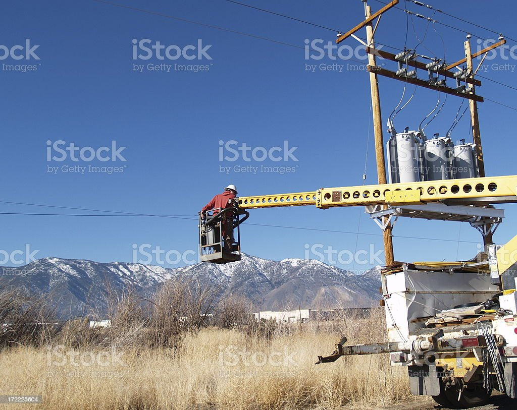 Electrical Work royalty-free stock photo