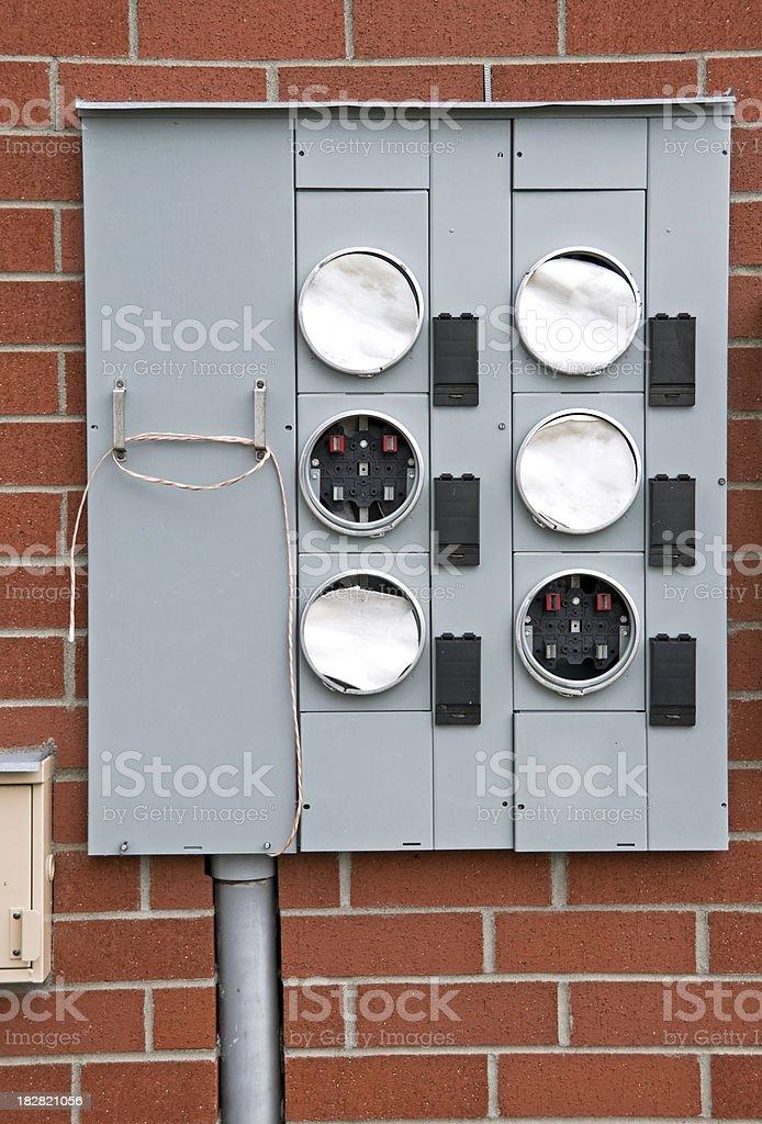 Electrical-usage meter panel royalty-free stock photo