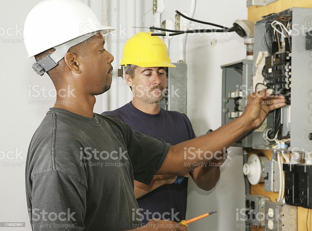 Electrician Diversity stock photo
