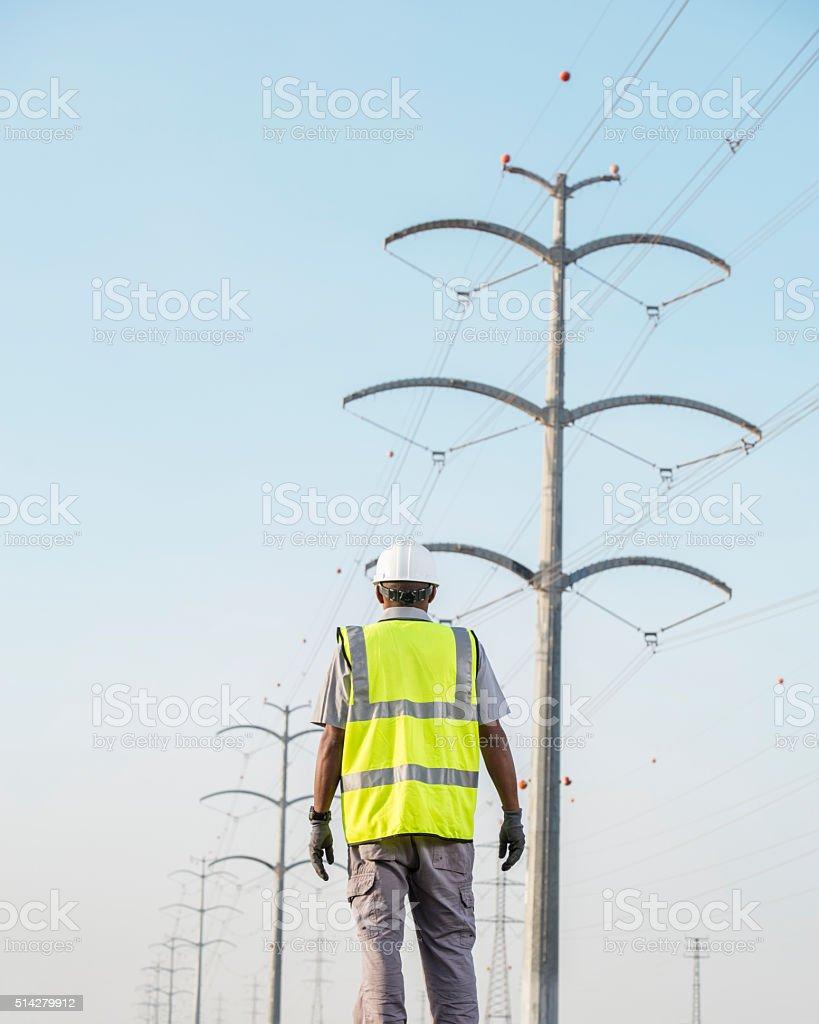 Electrician jobs employment. stock photo