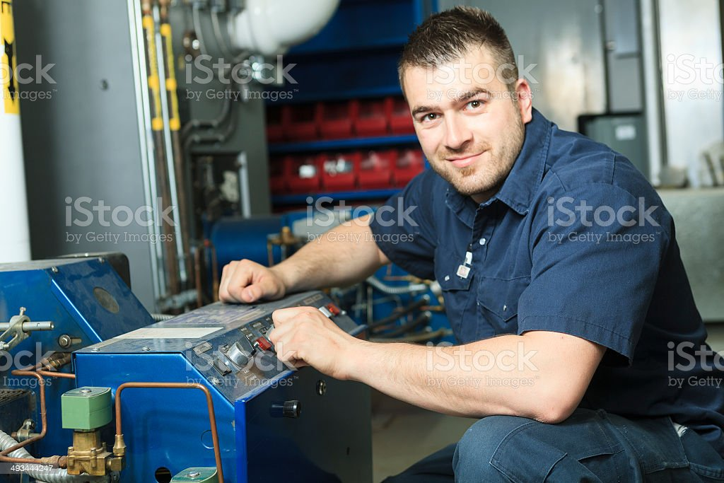 Electrician - Men Great Looking stock photo
