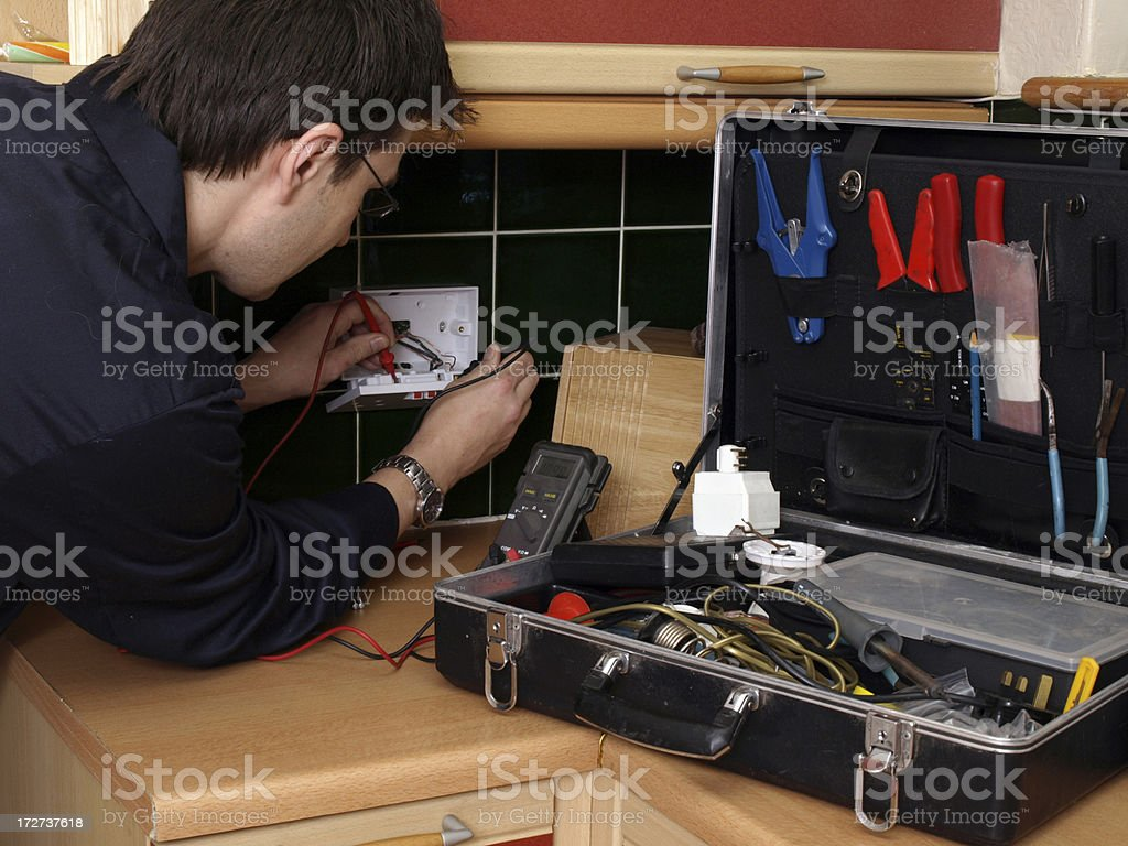Electrician royalty-free stock photo