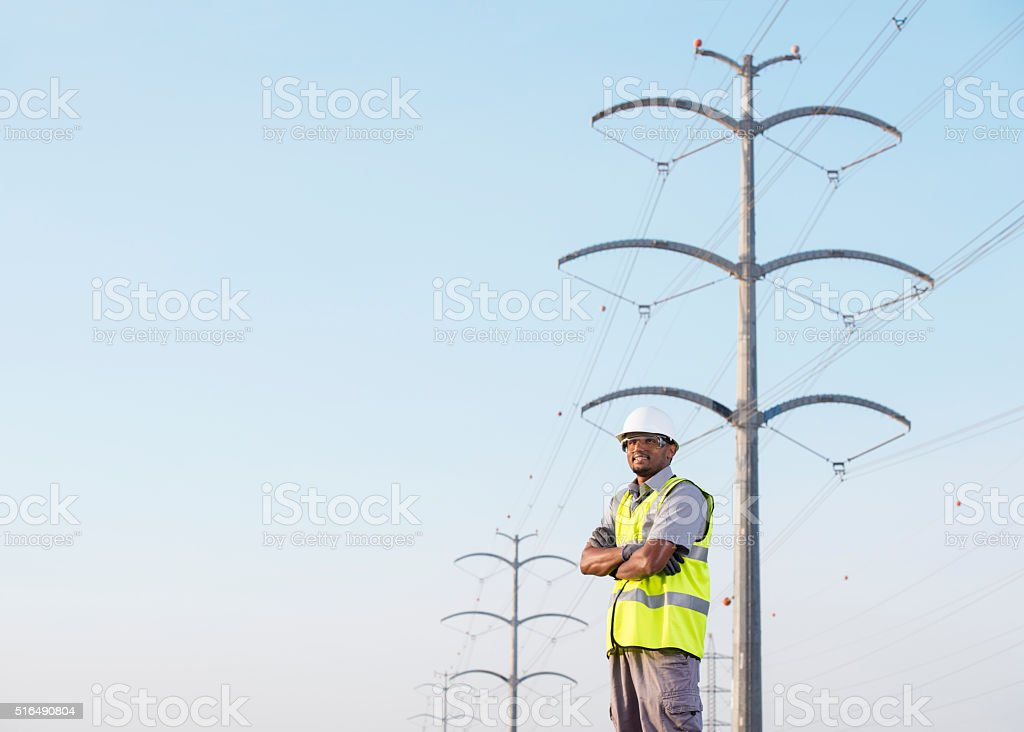 Electrician. stock photo