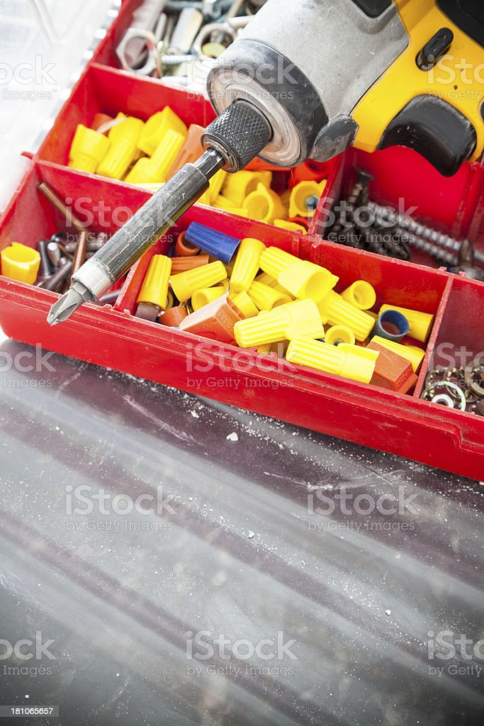 Electrician Tools royalty-free stock photo