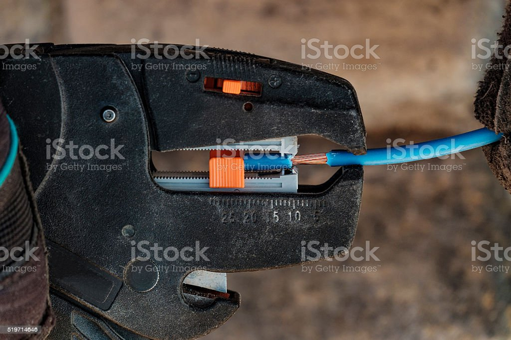 Electrician tools stock photo