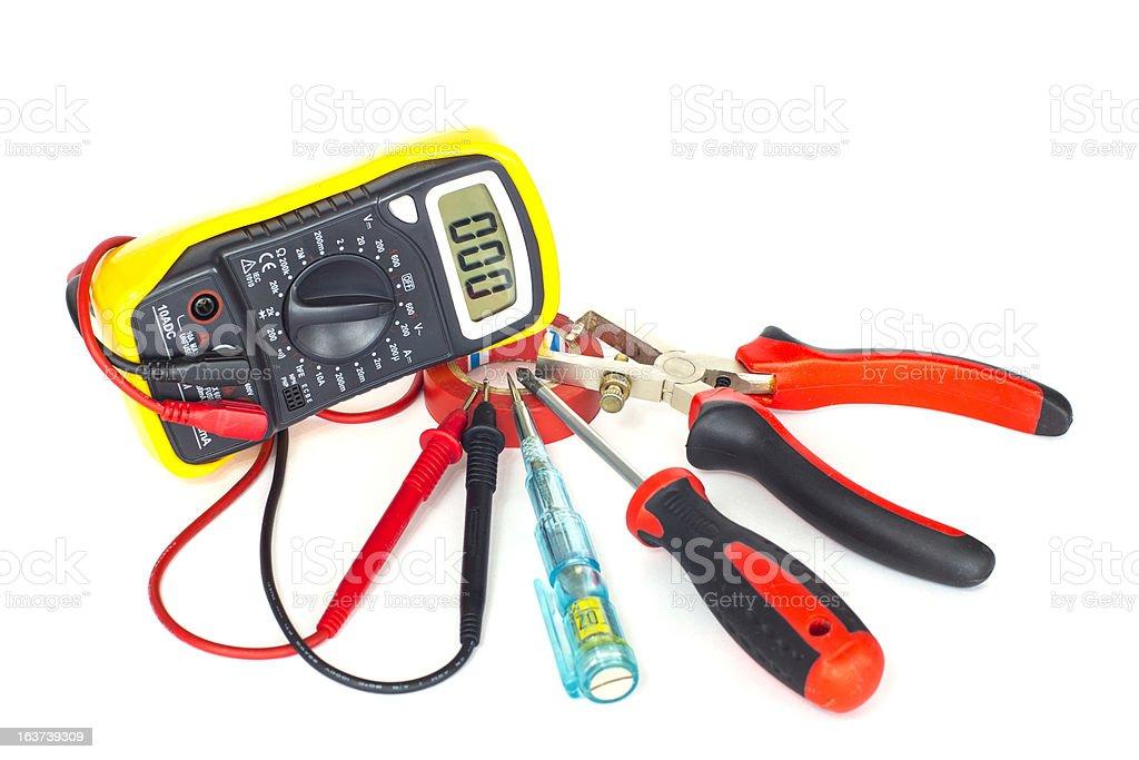 Electrician tools XXXLarge royalty-free stock photo